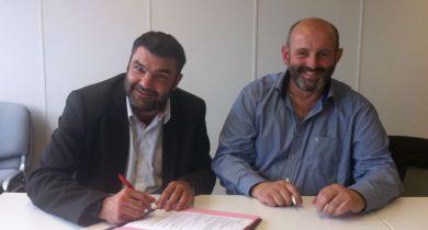 Bruno Dufayet, président et Jérémy Decerle, secrétaire général de l'association Eleveurs engagés